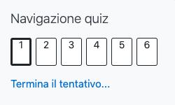 Navigazione Quiz Moodle